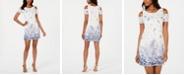 Robbie Bee Petite Cold-Shoulder Lace Trapeze Dress