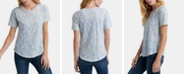 Lucky Brand Floral-Print Cotton T-Shirt