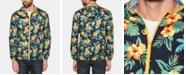 Original Penguin Men's Tropical Floral-Print Hooded Windbreaker