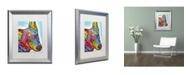 """Trademark Global Dean Russo 'Aussie Sheep Dog' Matted Framed Art - 20"""" x 16"""" x 0.5"""""""
