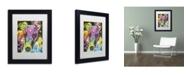 """Trademark Global Dean Russo 'Curious Greyhound' Matted Framed Art - 11"""" x 14"""" x 0.5"""""""