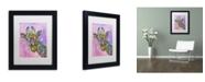 """Trademark Global Dean Russo 'Giraffe' Matted Framed Art - 11"""" x 14"""" x 0.5"""""""