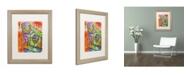 """Trademark Global Dean Russo 'Monkey 1' Matted Framed Art - 20"""" x 16"""" x 0.5"""""""