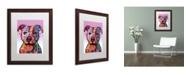 "Trademark Global Dean Russo 'Cherish The Pitbull' Matted Framed Art - 20"" x 16"" x 0.5"""