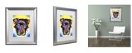 "Trademark Global Dean Russo 'Otter Pitbull' Matted Framed Art - 20"" x 16"" x 0.5"""
