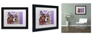 """Trademark Global Dean Russo 'Corgi' Matted Framed Art - 11"""" x 14"""" x 0.5"""""""
