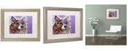 """Trademark Global Dean Russo 'Corgi' Matted Framed Art - 20"""" x 16"""" x 0.5"""""""