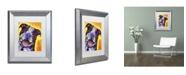 "Trademark Global Dean Russo 'Daisy Pit' Matted Framed Art - 14"" x 11"" x 0.5"""