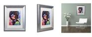 "Trademark Global Dean Russo 'Jimi Hendrix IV' Matted Framed Art - 14"" x 11"" x 0.5"""