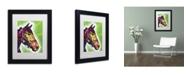 """Trademark Global Dean Russo 'Horse II' Matted Framed Art - 11"""" x 14"""" x 0.5"""""""
