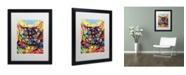 """Trademark Global Dean Russo 'Manx' Matted Framed Art - 16"""" x 20"""" x 0.5"""""""