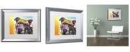 "Trademark Global Dean Russo 'Contemplative Pit' Matted Framed Art - 20"" x 16"" x 0.5"""