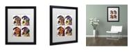 """Trademark Global Dean Russo '4 Danes' Matted Framed Art - 16"""" x 20"""" x 0.5"""""""