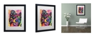 "Trademark Global Dean Russo 'Border Collie 121109' Matted Framed Art - 16"" x 20"" x 0.5"""