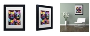 """Trademark Global Dean Russo 'Chihuahua 4x' Matted Framed Art - 11"""" x 14"""" x 0.5"""""""
