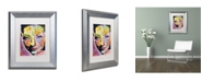 """Trademark Global Dean Russo 'She Learned To Say' Matted Framed Art - 14"""" x 11"""" x 0.5"""""""