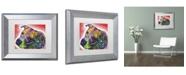 """Trademark Global Dean Russo 'Mocha' Matted Framed Art - 14"""" x 11"""" x 0.5"""""""