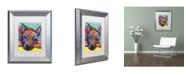 """Trademark Global Dean Russo 'Yoda' Matted Framed Art - 14"""" x 11"""" x 0.5"""""""