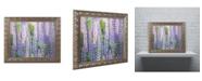 "Trademark Global Cora Niele 'Blue Pink Lupine Field' Ornate Framed Art - 14"" x 11"" x 0.5"""
