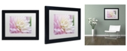 """Trademark Global Cora Niele 'White and Pink Dahlia' Matted Framed Art - 11"""" x 14"""" x 0.5"""""""