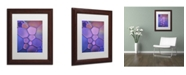 """Trademark Global Cora Niele 'Purple Stained Glass' Matted Framed Art - 14"""" x 11"""" x 0.5"""""""