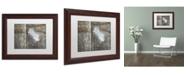 "Trademark Global Cora Niele 'Feather on Wood II' Matted Framed Art - 14"" x 11"" x 0.5"""