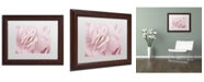 "Trademark Global Cora Niele 'Begonia Flower' Matted Framed Art - 14"" x 11"" x 0.5"""
