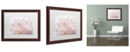 "Trademark Global Cora Niele 'Pink Peony Petals V' Matted Framed Art - 20"" x 16"" x 0.5"""