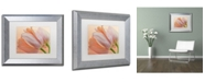 "Trademark Global Cora Niele 'Two Orange Tulips' Matted Framed Art - 14"" x 11"" x 0.5"""