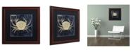 "Trademark Global Color Bakery 'Maritime Blues III' Matted Framed Art - 16"" x 0.5"" x 16"""