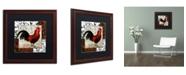 "Trademark Global Color Bakery 'Europa II' Matted Framed Art - 16"" x 0.5"" x 16"""