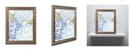 "Trademark Global Color Bakery 'Sea Dahlias I' Ornate Framed Art - 16"" x 0.5"" x 20"""