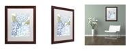 "Trademark Global Color Bakery 'Sea Dahlias I' Matted Framed Art - 16"" x 0.5"" x 20"""