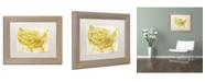 "Trademark Global Color Bakery 'American Dream III' Matted Framed Art - 14"" x 0.5"" x 11"""