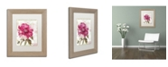 """Trademark Global Color Bakery 'Pink Peony' Matted Framed Art - 11"""" x 0.5"""" x 14"""""""