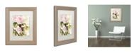 "Trademark Global Color Bakery 'Flora Bella' Matted Framed Art - 11"" x 0.5"" x 14"""