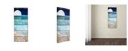 "Trademark Global Color Bakery 'Beach Moonrise I' Canvas Art - 14"" x 2"" x 32"""