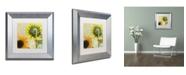 "Trademark Global Color Bakery 'Soleil II' Matted Framed Art - 11"" x 0.5"" x 11"""