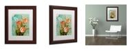 "Trademark Global Color Bakery 'Tulips Ablaze III' Matted Framed Art - 11"" x 0.5"" x 14"""