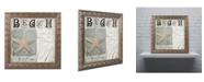"Trademark Global Color Bakery 'Beach Book II' Ornate Framed Art - 11"" x 0.5"" x 11"""