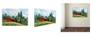 "Trademark Global Debbi Wetzel 'Red Barn Summer' Canvas Art - 19"" x 12"" x 2"""