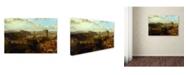 "Trademark Global David Roberts 'Edinburgh From The Calton Hill' Canvas Art - 19"" x 12"" x 2"""