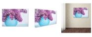 "Trademark Global Cora Niele 'Lilacs In Blue Vase Iii' Canvas Art - 32"" x 22"" x 2"""