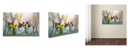 """Trademark Global Cora Niele 'Spring Flowers In Glass Bottles Iv' Canvas Art - 24"""" x 16"""" x 2"""""""