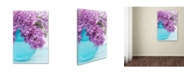 "Trademark Global Cora Niele 'Lilacs In Blue Vase Iv' Canvas Art - 32"" x 22"" x 2"""