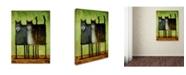 "Trademark Global Daniel Patrick Kessler 'Double Trouble' Canvas Art - 19"" x 14"" x 2"""