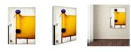 "Trademark Global Daniel Patrick Kessler 'Yellow Dog With Apple' Canvas Art - 19"" x 14"" x 2"""