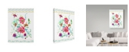 "Trademark Global Irina Trzaskos Studio 'Sophisticated Flowers II' Canvas Art - 24"" x 18"" x 2"""