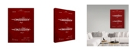 "Trademark Innovations Cole Borders 'Fountain Pen' Canvas Art - 19"" x 14"" x 2"""
