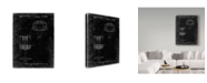 "Trademark Innovations Cole Borders 'Disc Golf Basket Black' Canvas Art - 47"" x 35"" x 2"""